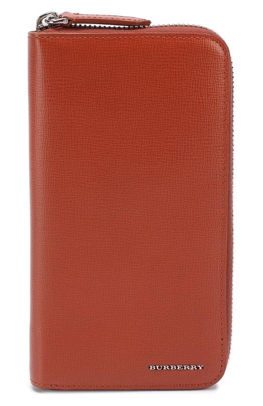 Кожаное портмоне на молнии с отделениями для кредитных карт и монет Burberry 4031498