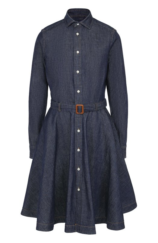 Джинсовое платье-рубашка с поясом Polo Ralph Lauren Китай 5144205 V36/XZ872/XY872  - купить со скидкой