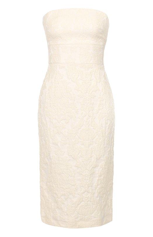 Приталенное платье-бюстье с фактурной отделкой Tara Jarmon 16347-R3742