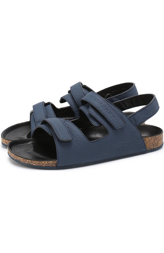 Кожаные сандалии с застежками велькро Burberry 4037570