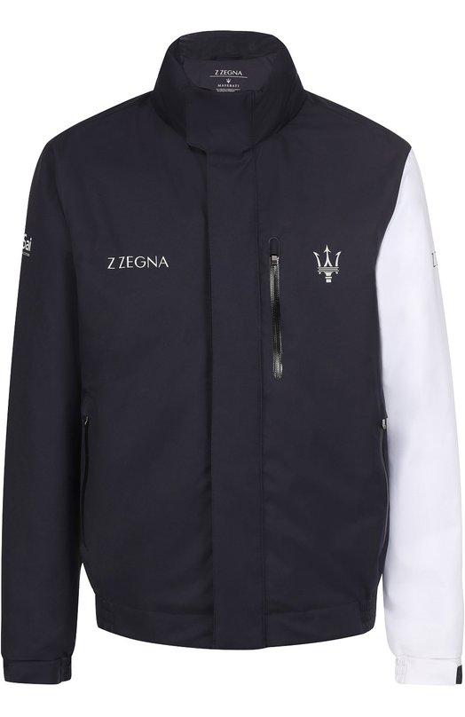 Утепленная крутка на молнии с воротником-стойкой Z Zegna VM051ZZB087