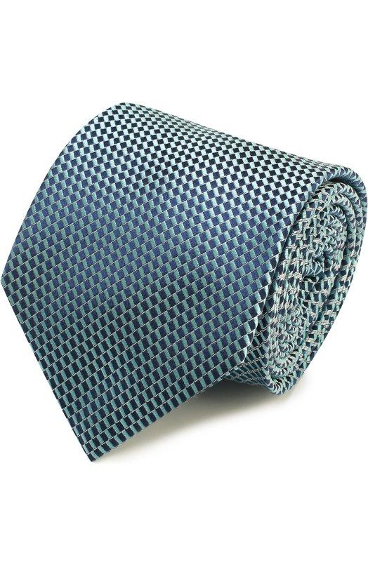 Шелковый галстук с узором Brioni Италия 5132071 062H/P6453  - купить со скидкой