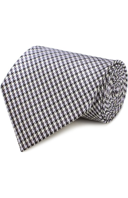 Шелковый галстук с узором houndstooth Tom Ford 9TF301TF