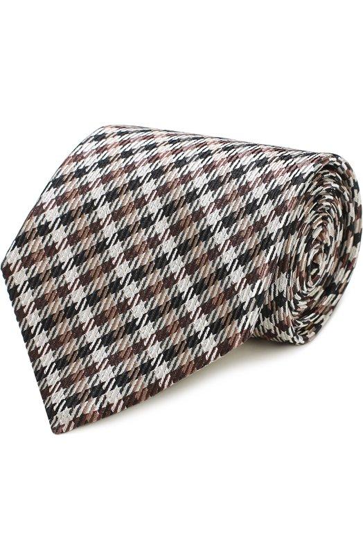 Купить Шелковый галстук с узором Tom Ford, 9TF311TF, Италия, Бежевый, Шелк: 100%;