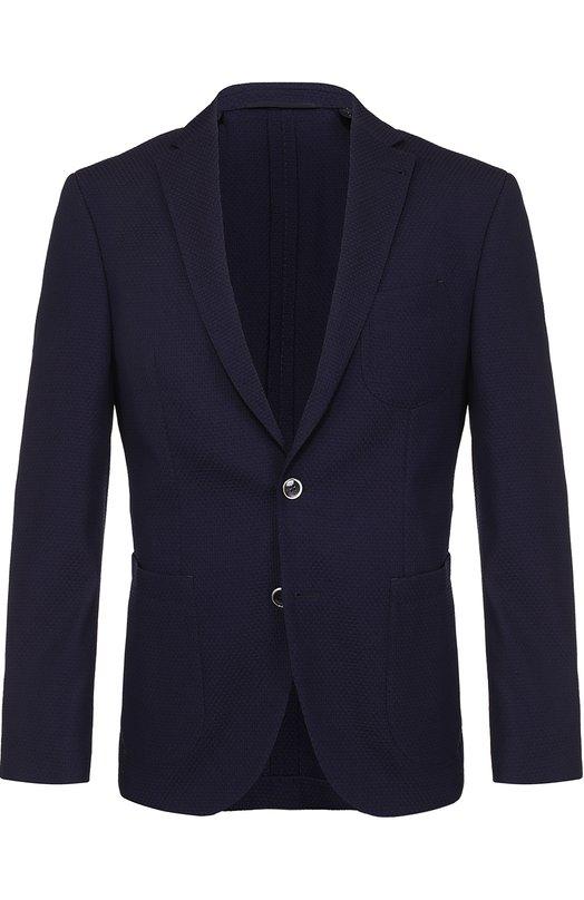 Шерстяной однобортный пиджак Baldessarini 14682/7175