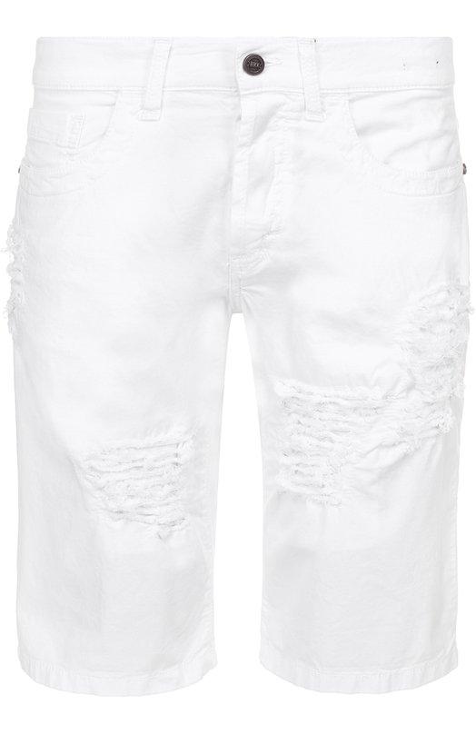 джинсовые шорты с декоративными потертостями Dirk Bikkembergs C081BH0SB174