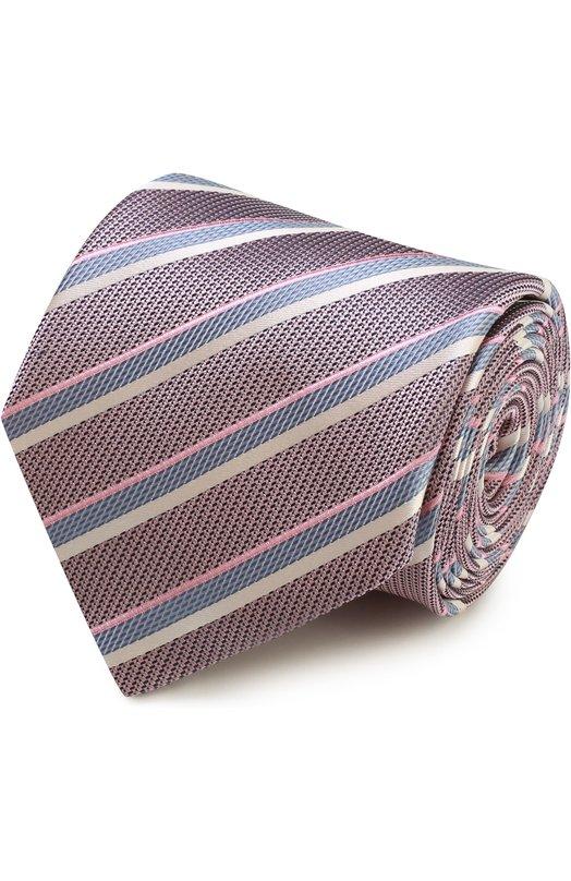 Шелковый галстук в полоску Brioni 063I/P6471