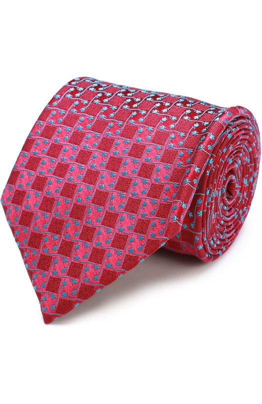 Купить Шелковый галстук с узором Charvet Франция 5151557 18242