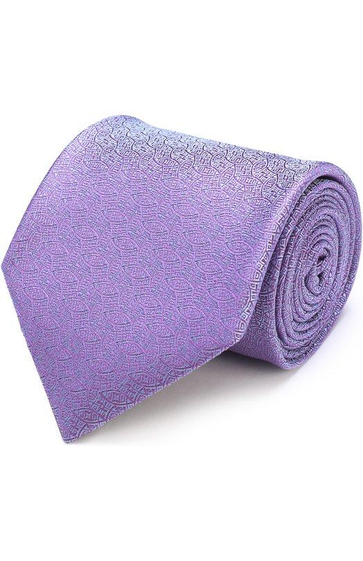 Купить Шелковый галстук с узором Charvet Франция 5151559 18253