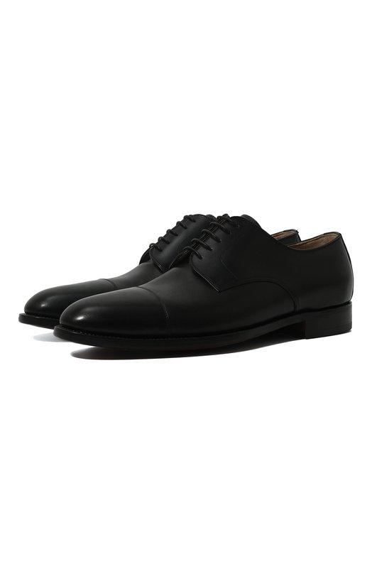 Купить Классические кожаные дерби Kiton, USSVINC/N00101, Италия, Черный, Кожа натуральная: 100%; Стелька-кожа: 100%; Подошва-кожа: 100%;