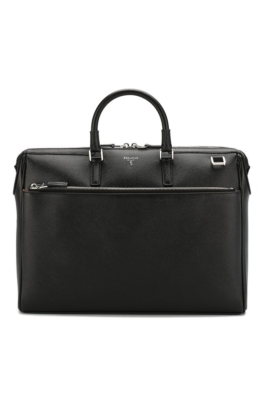 Купить Кожаная сумка для ноутбука Serapian, SEV0EMLL6198M38A, Италия, Черный, Кожа натуральная: 100%;