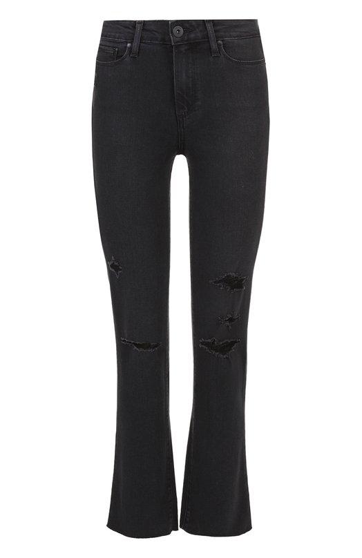 Укороченные расклешенные джинсы с потертостями Paige 3182901-3266