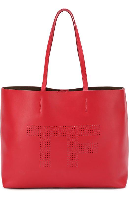 Купить Сумка-тоут Medium TF Tom Ford, L1000T/C62, Италия, Красный, Кожа натуральная: 100%;