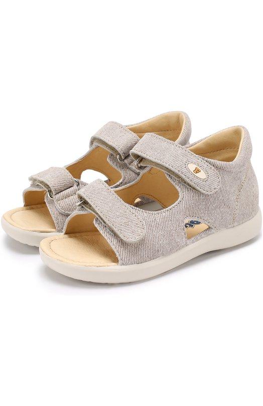 Кожаные сандалии с застежками велькро Falcotto 0011500594/02