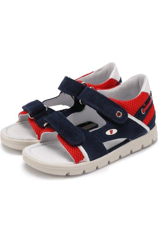 Комбинированные сандалии с застежками велькро Falcotto 0011500599/02