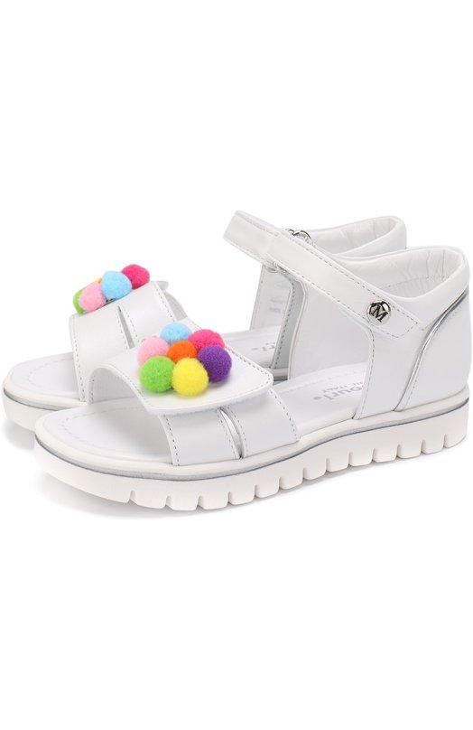 Кожаные сандалии с застежками велькро и декором Missouri 5095/19-26