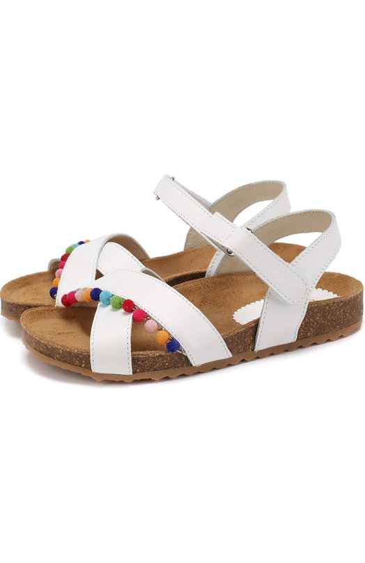 Кожаные сандалии с декором Il Gufo G561/VITELL0 NAPPAC0/27-30