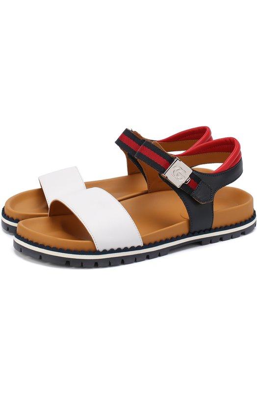 Кожаные сандалии с ремешком Gucci 455503/CPW00