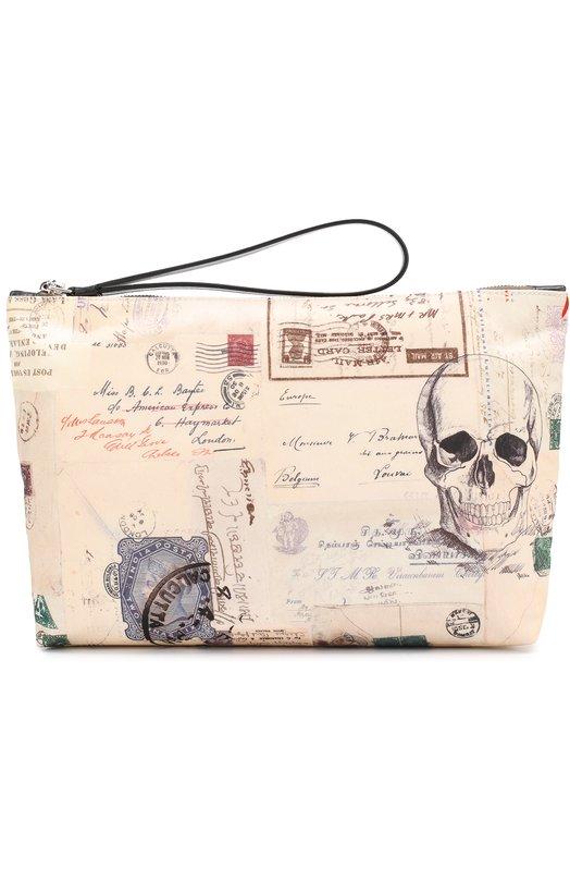 Текстильная папка для документов на молнии Alexander McQueen 460623/K8X2N