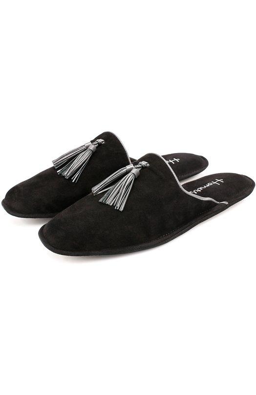 Замшевые домашние туфли без задника Homers At Home 17931/ANTE