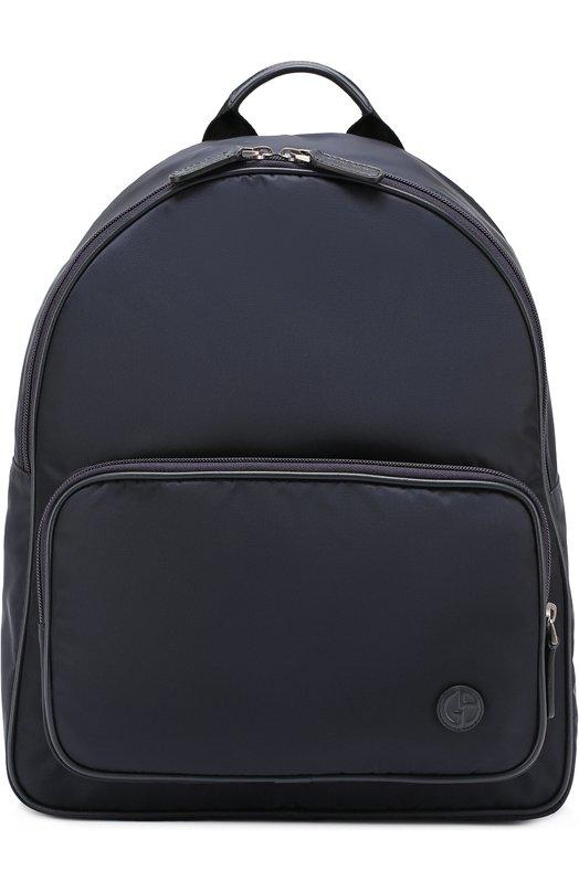 Текстильный рюкзак с внешним карманом на молнии Giorgio Armani Y20070/YLA0J