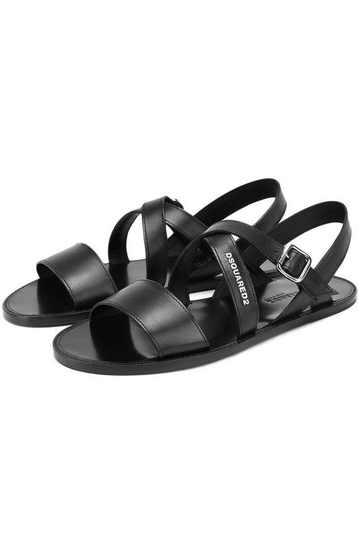 Кожаные сандалии на плоской подошве Dsquared2 S17SA105/015