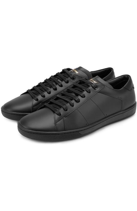 Кожаные кеды Court Classic на шнуровке Saint Laurent 417849/D2600