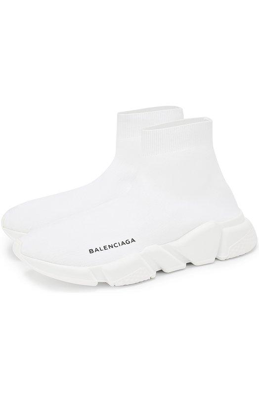 Текстильные кроссовки на массивной подошве Balenciaga 454484/W05G0