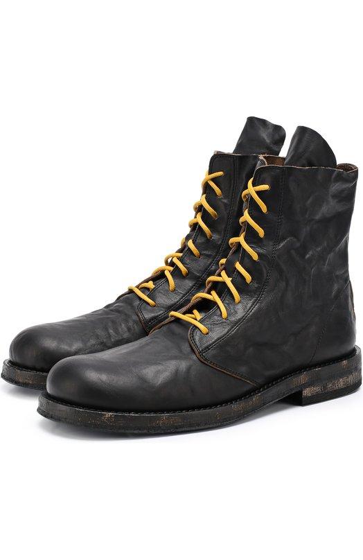 Кожаные ботинки с потертостями Ann Demeulemeester 1701/2902/P/360