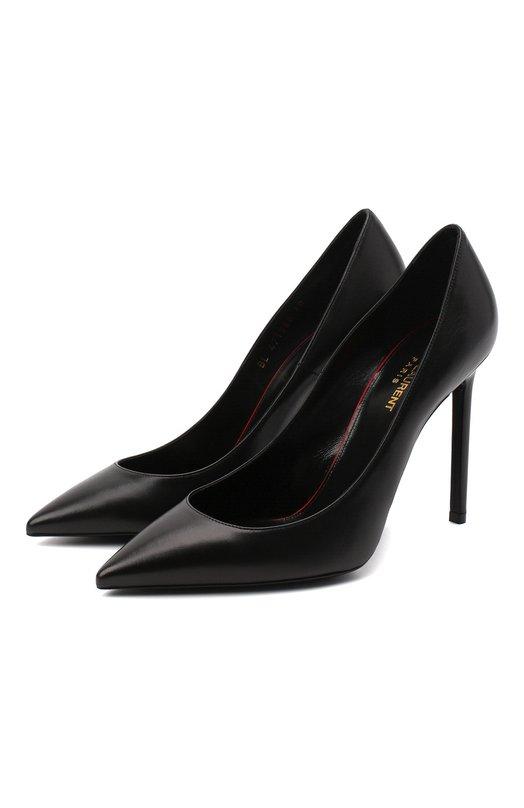 Кожаные туфли Anja на шпильке Saint Laurent Saint Laurent