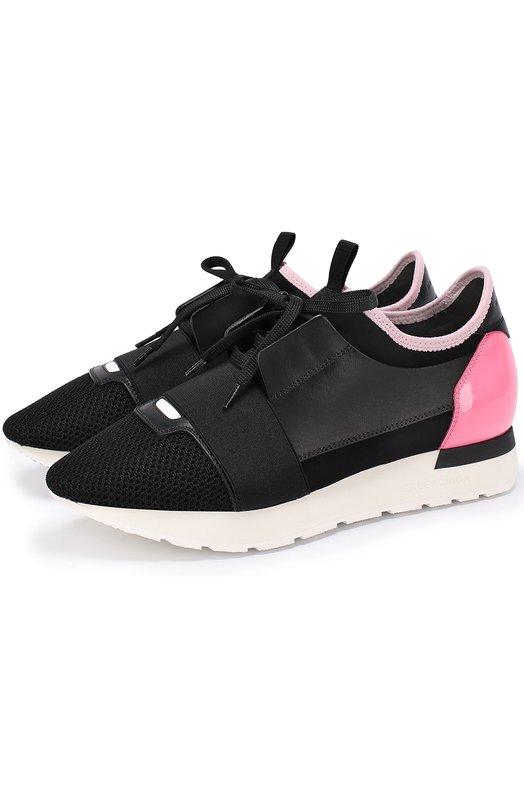Комбинированные кроссовки с контрастной вставкой Balenciaga 454489/W0YXL