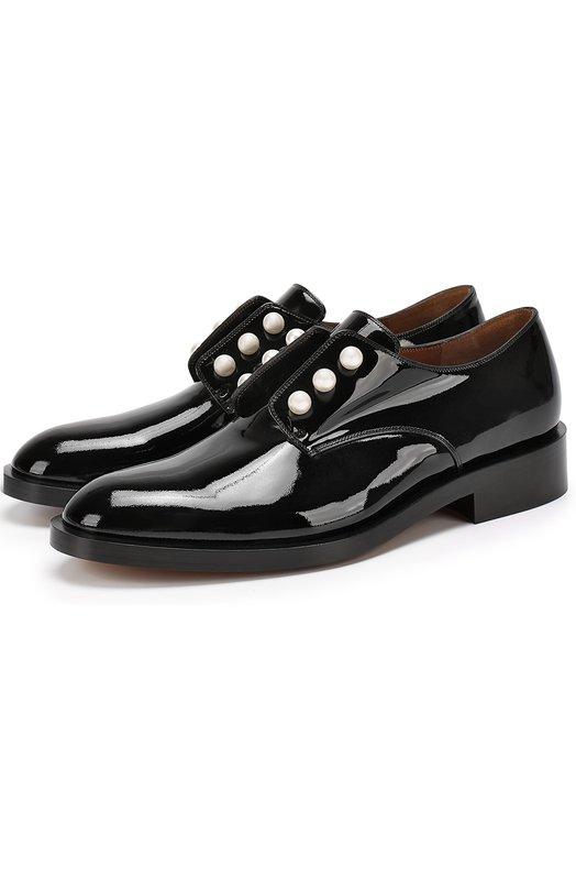 Лаковые ботинки с жемчужинами Givenchy BE0/9174/044