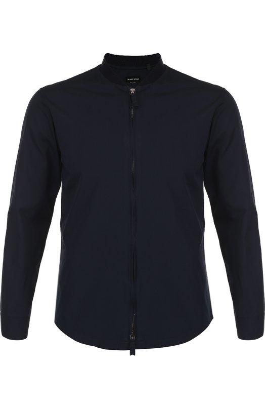 Хлопковая рубашка на молнии Giorgio Armani VSC5NT/VS27C