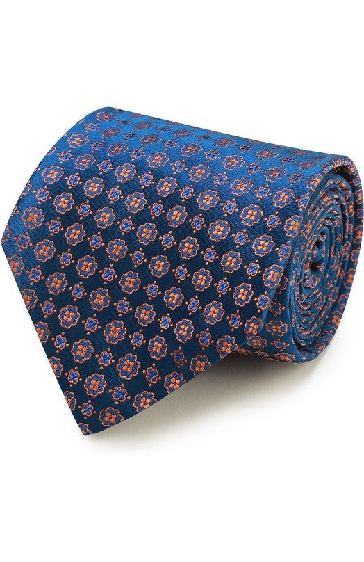 Шелковый галстук с узором Kiton KA/C02E04