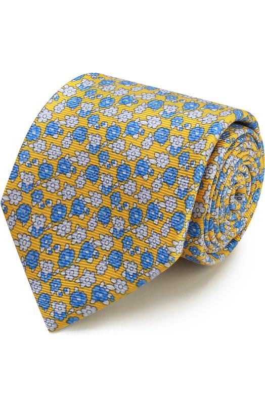 Шелковый галстук с узором Kiton KA/C03E51