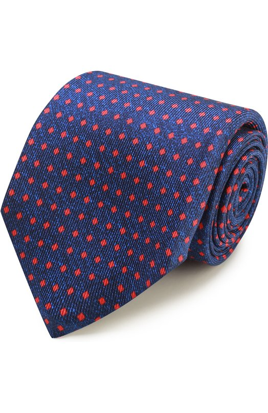 Шелковый галстук с узором Kiton KA/C03E52