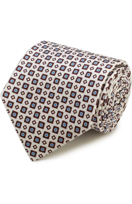 Шелковый галстук с узором Kiton KA/C03E77
