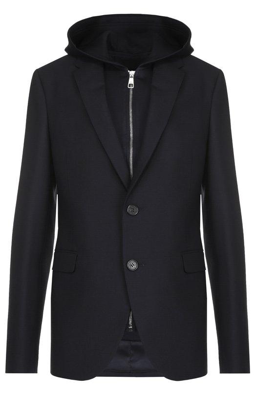 Шерстяной однобортный пиджак с подстежкой на молнии Neil Barrett PBGI363V/E036C