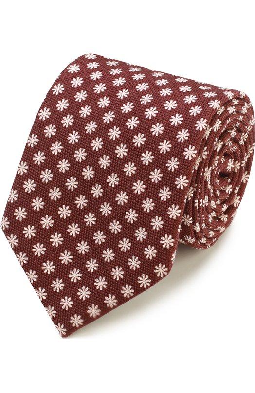 Шелковый галстук с цветочным узором Ermenegildo Zegna Z9A811L8