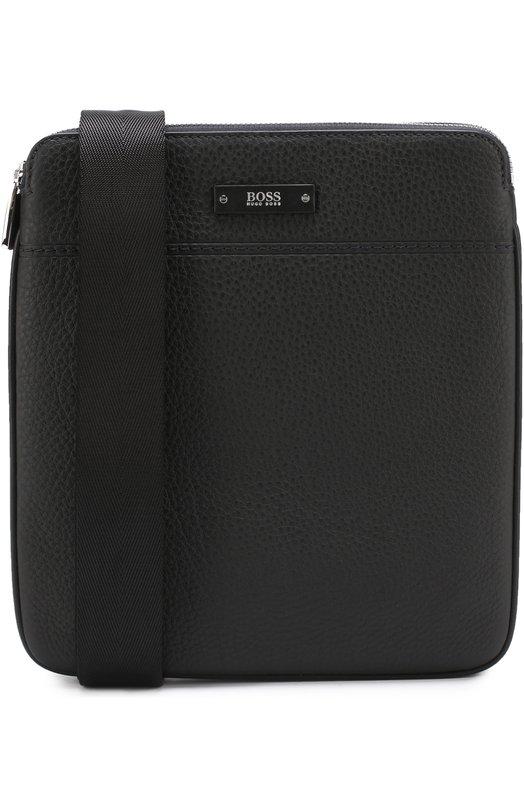 Кожаная сумка-планшет с двумя отделениями на молнии BOSS 50331817