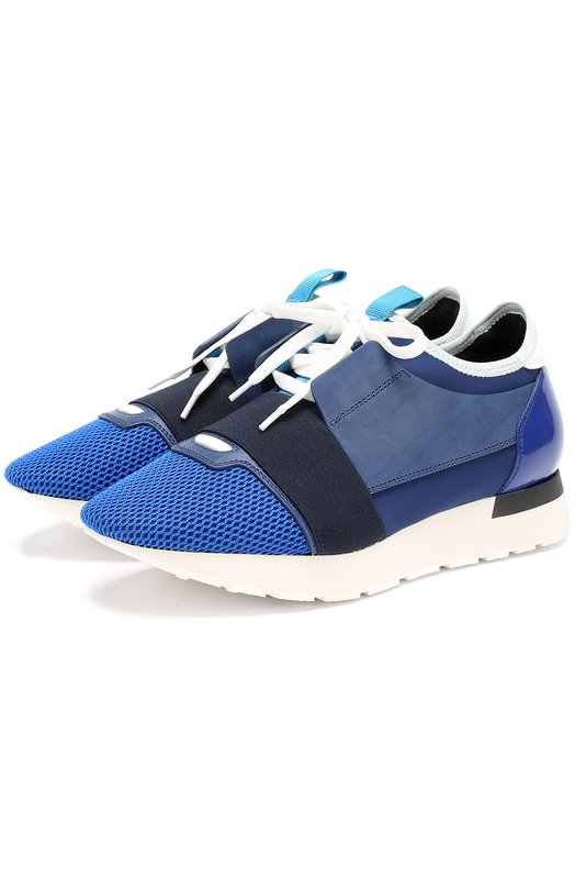 Комбинированные кроссовки с эластичной лентой Balenciaga 454489/W0YXM