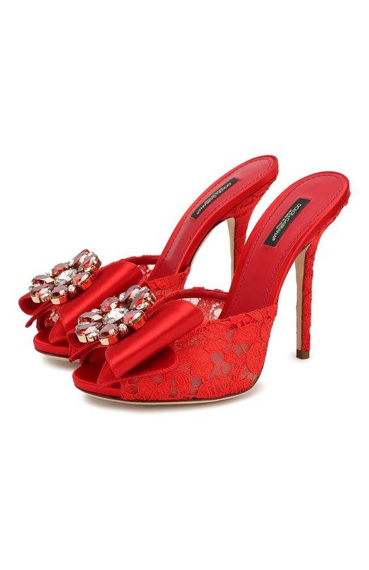 Кружевные мюли Keira на шпильке Dolce & Gabbana 0112/CR0377/AL198