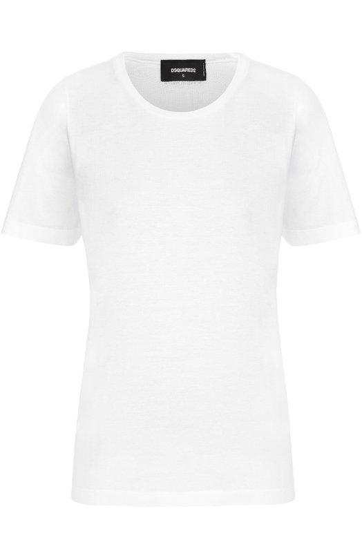 Хлопковая футболка прямого кроя с круглым вырезом Dsquared2 S75GC0851/S22427