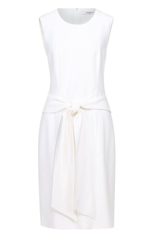 Платье-миди с круглым вырезом и декоративным поясом Givenchy 17Y/2031/194