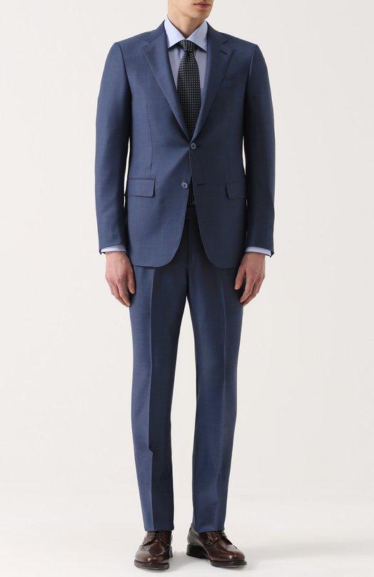 Шерстяной костюм с пиджаком на двух пуговицах Ermenegildo Zegna 922576221225