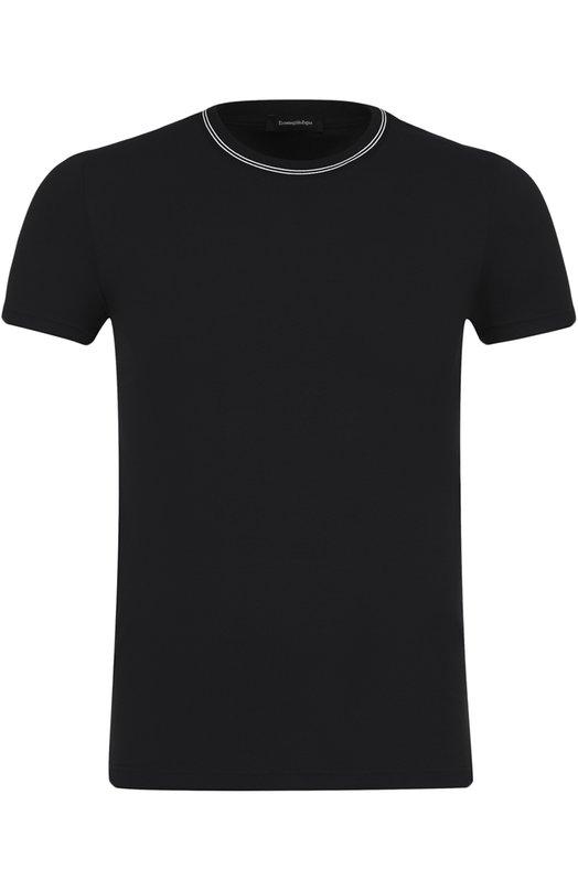 Хлопковая футболка с круглым вырезом Ermenegildo Zegna N3M200010