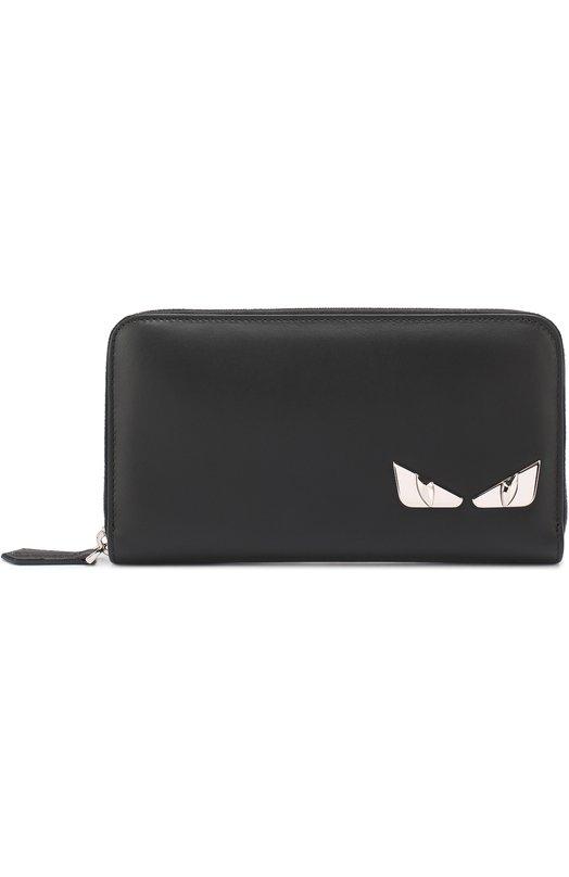 Кожаное портмоне на молнии с отделкой Bag Bugs Fendi 7M0210/074