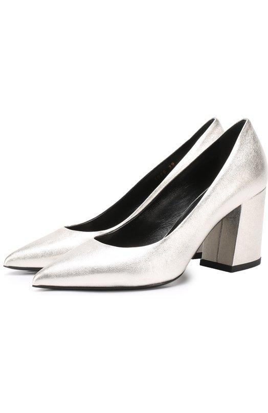 Туфли из металлизированной кожи на устойчивом каблуке Baldan 1076/NAPPA