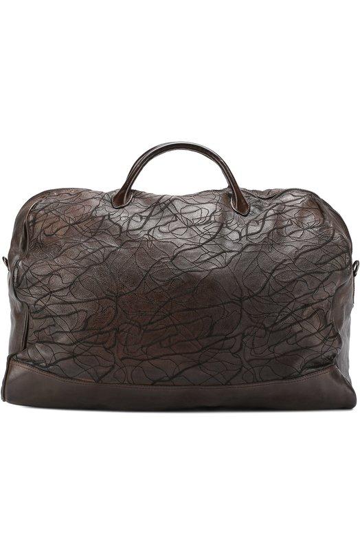 Кожаная дорожная сумка с декором Numero 10 M0NZEGLI0-RIC