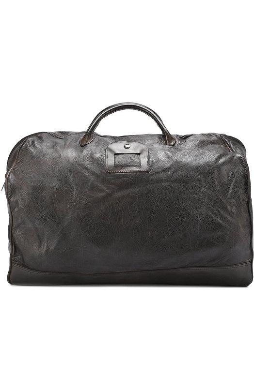 Кожаная дорожная сумка с эффектом крэш Numero 10 M0NZEGLI0-TH